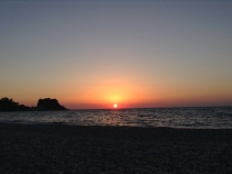 POTAMI BEACH SAMOS SUNDOWN